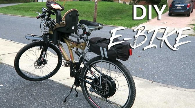 2 person DIY Electric Bicycle for dirt cheap.